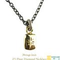 ヴァンユイット 271 フロート ダイヤモンド ネックレス 18金 シルバー メンズ,28vingt-huit Float Diamond Necklace K18 Silver Mens