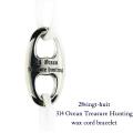 28vingt-huit 314 宝探し 紐ブレスレット ワックスコード シルバー メンズ,ヴァンユイット Ocean Treasure Hunting Wax Cord Bracelet