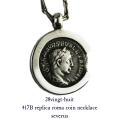 28vingt-huit 417B レプリカ ローマコイン ネックレス セウェルス メンズ シルバー,ヴァンユィット Roma Coin Necklace Silver Mens