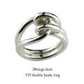 28vingt-huit 515 ダブル フック リング メンズ シルバー,ヴァンユィット Double Hook Ring Silver Mens