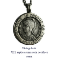 28vingt-huit 732B レプリカ ローマコイン ネックレス メンズ シルバー,ヴァンユィット Roma Coin Necklace Silver Mens
