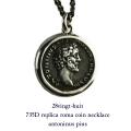 28vingt-huit 735D レプリカ ローマ コイン アントニヌス ピウス ネックレス メンズ シルバー,ヴァンユィット Roma Coin Necklace Silver