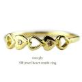 トゥー プライ 338 ジュエル ハート ダイヤモンド コンビ 華奢リング 18金,two ply Jewel Heart Diamond Combi Ring K18