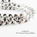アコピナコ 03 ミモザ シルバー ロング ネックレス 80cm,acopinaco Mimoza Long Necklace silver