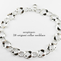 acopinaco 28 オリガミ カラー ネックレス チョーカー シルバー,アコピナコ ORIGAMI Collar Necklace Silver,パーティ アクセサリー