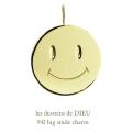 レデッサンドゥデュー 942 ビッグ スマイル ニコちゃん チャーム ペンダントトップ 18金,les desseins de DIEU Big Smile Charm K18