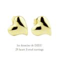 レデッサンドゥデュー 29 ハート スタッド ピアス 18金,les desseins de DIEU Heart S Stud Earrings K18