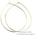 レデッサンドゥデュー 297 フープピアス ハンドメイド 18金 ゴールド,les desseins de DIEU  Solid Gold Hoop Earrings 4.5 K18