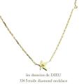 les desseins de DIEU 334 L'etoile Diamond Necklace,華奢 スター ダイヤモンド ネックレス,Star ゴールド,レデッサンドゥデュー
