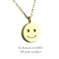 レデッサンドゥデュー 338 スマイル にこちゃん ネックレス 18金,les desseins de DIEU Smiley Necklace K18