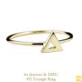 レデッサンドゥデュー 452 トライアングル 三角形 リング 18金,les desseins de DIEU Triangel Ring K18