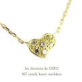 レデッサンドゥデュー 467 キャンディ ハート ダイヤモンド ネックレス 18金,les desseins de DIEU Candy Heart Diamond Necklace K18