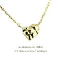 レデッサンドゥデュー 471 マトラッセ ハート ネックレス 18金,les desseins de DIEU Matelasse Heart Necklace K18