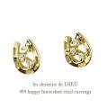 レデッサンドゥデュー 494 ダイヤモンド ホースシュー ピアス 18金,les desseins de dieu Diamond Horseshoe Stud Earrings K18
