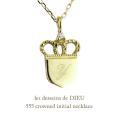 レデッサンドゥデュー 555 クラウン 王冠 イニシャル ネックレス 18金,les desseins de DIEU Crowned Initial Necklace K18