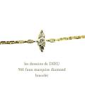 レデッサンドゥデュー 566 マーキス 一粒ダイヤモンド ブレスレット 18金,les desseisns de DIEU Maquise Diamond Bracelet K18