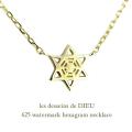 レデッサンドゥデュー 625 ウォーターマーク ヘキサグラム ネックレス 18金,les desseins de DIEU Watermark Hexagram Necklace K18