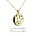 レデッサンドゥデュー 635 太陽 自然 サン 華奢ネックレス 18金,les desseins de DIEU Nature Sun Necklace K18