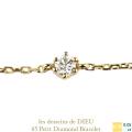 レデッサンドゥデュー 65 一粒ダイヤモンド 6本爪 ブレスレット 18金,les desseins de DIEU Petit Diamond Bracelet K18