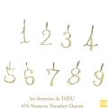 レデッサンドゥデュー 676 ナンバー 数字 華奢チャーム 18金,les desseins de DIEU Number Numero Charm K18