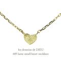 レデッサンドゥデュー 685 ラメ ハート ネックレス 18金,les desseins de DIEU Lame Heart Necklace K18