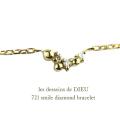 レデッサンドゥデュー 721 ドット ダイヤモンド ブレスレット 18金,les desseins de DIEU Dot Diamond Bracelet K18