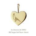 レデッサンドゥデュー 806 ハッピー バード 幸せの鳥 チャーム 18金,les desseins de DIEU Happy Bird Charm K18