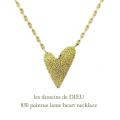 レデッサンドゥデュー 830 ポインティー ラメ ハート ネックレス 18金,les desseins de dieu Lame Heart Necklace K18