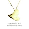 レデッサンドゥデュー 883 ハート 椿 ネックレス 18金,les desseins de DIEU Heart Tsubaki Necklace K18