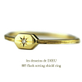 レデッサンドゥデュー 885 フラッシュ セッティング ダイヤモンド リング 18金,les desseins de dieu Flash Setting Shield Ring K18