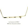 レデッサンドゥデュー 888d ツチ目 ライン バー ダイヤモンド ネックレス 18金,les desseins de DIEU Line Diamond Necklace K18