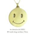 レデッサンドゥデュー 893 スマイル スマイリー ロング ネックレス 18金,les desseins de DIEU Smiley Long Necklace K18 50cm