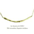 レデッサンドゥデュー 906 ストリームライン ダイヤポイント ネックレス 18金,les desseins de DIEU Streamline Diapoint Necklace K18