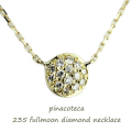 ピナコテーカ 235 フルムーン 満月 ダイヤモンド 華奢ネックレス 18金,pinacoteca Fullmoon Diamond Necklace K18