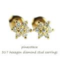 pinacoteca 317 Hexagon Diamond Stud Earrings ピナコテーカ ヘキサゴン ダイヤモンド スタッド ピアス 雪結晶、フラワー