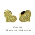 ピナコテーカ 411 ラメ ハート スタッド ピアス 18金,pinacoteca Lame Heart Stud Earrings K18