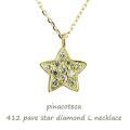 ピナコテーカ 412 パヴェ ダイヤモンド スター L ネックレス 18金,pinacoteca Pave Diamond Star L Necklace K18