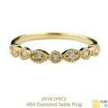 pinacoteca 484 Diamond Sable Ring K18,ピナコテーカ ダイヤモンド サブレ ミル打ち 華奢リング 18金