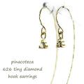 ピナコテーカ 626 一粒ダイヤモンド フックピアス 18金 華奢ピアス,pinacoteca Solitaire Diamond Hook Earrings K18