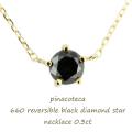 ピナコテーカ 660 ブラック 一粒ダイヤモンド スター 華奢ネックレス 18金,pinacoteca Black Diamond Star Necklace 0.3ct K18