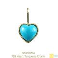 ピナコテーカ 728 ハート ターコイズ チャーム 18金,pinacoteca Heart Turquoise Charm K18