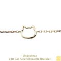 ピナコテーカ 730 猫 顔 ブレスレット 子猫 華奢 キャット フェイス 18金,pinacoteca Cat Face Silhouette Bracelet K18