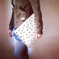 bpb ANT CLUTCH BAG white instagram