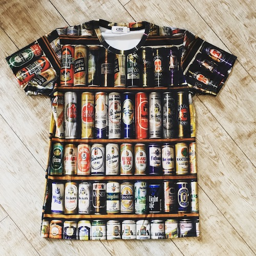 3D printed beer T-shirts unisex 3Dプリント 個性派Tシャツ 世界のビール  ユニセックス