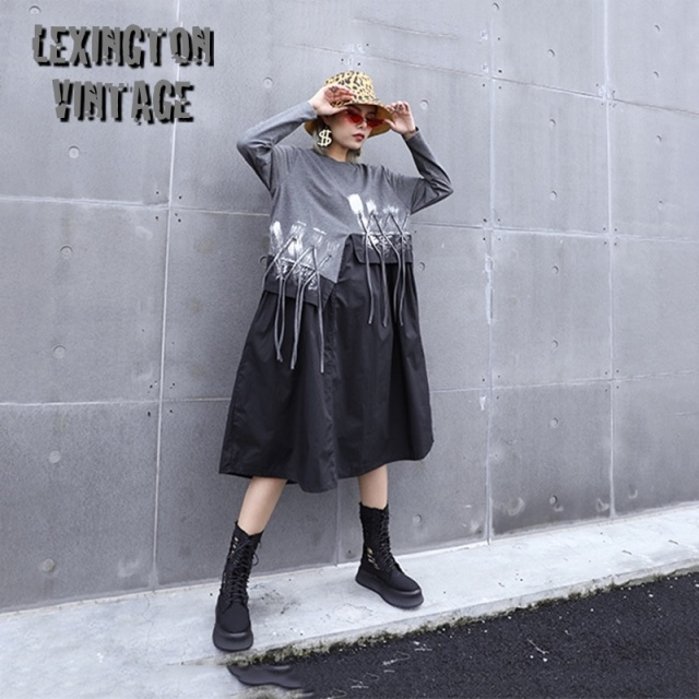 Round Neck Long Sleeve Loose Fit Fashion【海外取寄】 1A048