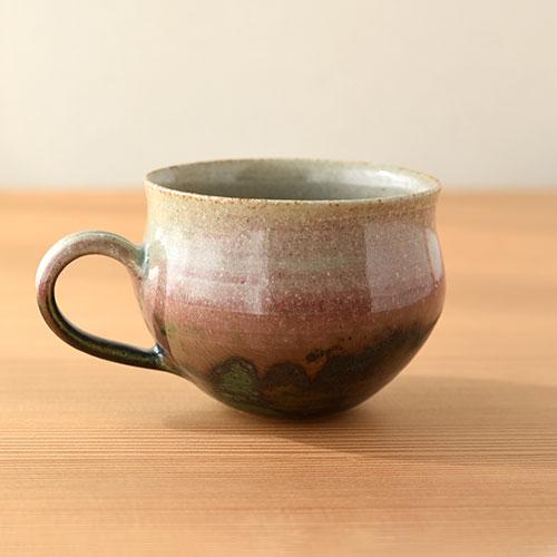 緑紅 マグカップ/亀井 紀子(陶工房 もちの木)