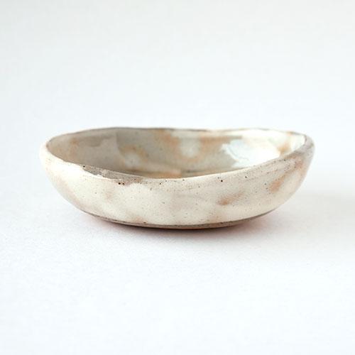 朱粉引き 楕円小鉢/亀井 紀子(陶工房 もちの木)