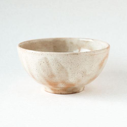 朱粉引き 楕円飯椀/亀井 紀子(陶工房 もちの木)