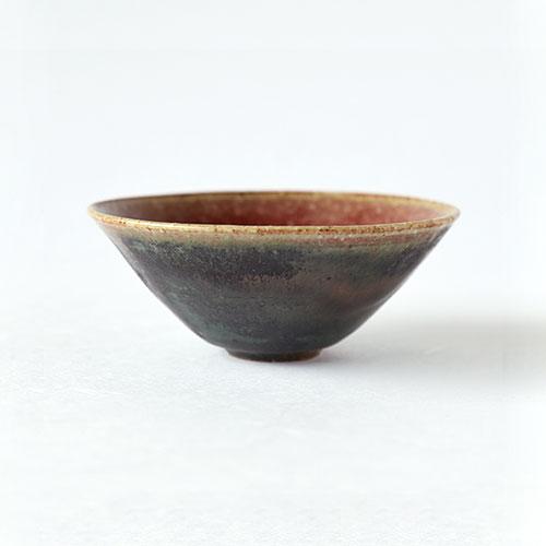緑紅・猪口(広口)/亀井紀子