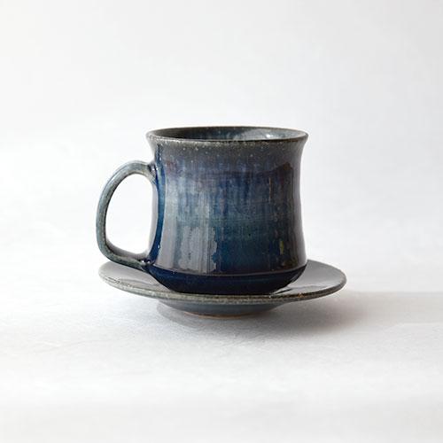 青彩 デミタスカップ&ソーサー/亀井 紀子(陶工房 もちの木)